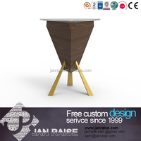 Modern design high gloss wooden coffee table without drawers