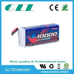 High quality high discharge rate 10-20C 11.1V 10000mah li polymer battery for RC aircraft