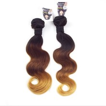 Hot selling double wefts ombre full cuticle and tangle free 100% raw european virgin hair