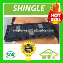 shingle type colored stone coated roofing tile