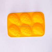 Silicone cake mold easter eggs shaped 6 hole recovery DIY molds CDSM-365