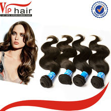 Natural black top quality intact unprocessed virgin Brazilian human hair