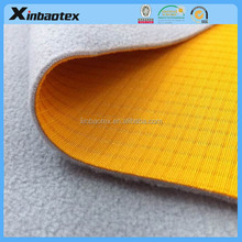 stain-resistant fabric rib double interlock fabric+transparent tpu film + 100D/144F microfleece