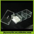clara retângulo caixa de plástico com divisórias