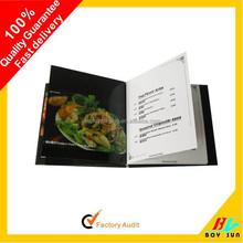 Wholesales colorful hard cover restaurant menu printing
