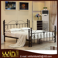 europe market wall bed iron bed wrought iron double bed DB-0332
