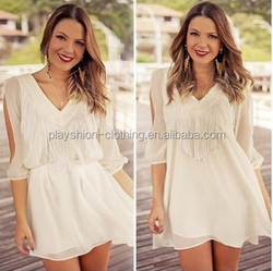 summer new European and American women's fashion loose chiffon dress flower dress