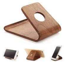 Universal Desktop Phone Mount,Wooden Mobile Cell Phone Holder