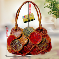 2015 hot sale new design fashion handmade unique lady handbag manual DIY cheap ladies small pretty handbags