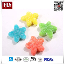 Star Shaped fruity gummy vitamins gelatin jelly candies