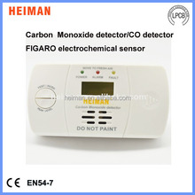 2015 new product EN50291 standard home security table placement 2*1.5V AA batteries standalone LCD display CO leak alarm
