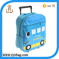 Children cartoon car picture of trolley school bag