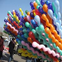 Christmas toy Screw/ spiral shaped latex balloon snake balloon