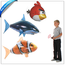 RC flying shark fish clownfish swim in the air move like a real fish steer in any direction Great indoor fun for kids