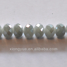 white ab coated color crystal glass facet rondelle beads nugget bulk