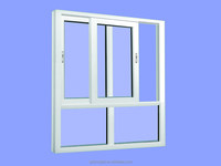 Good quality and reasonable price aluminum window and door white color sliding window with fixed part