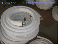 """rubber Insulated air conditioner connecting tube copper and aluminum tube,size 1/2"""" 3/4"""" 3/8"""" etc."""