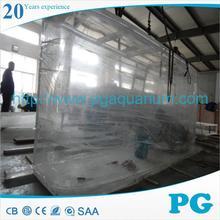 PG 2015 new big oval acrylic fish tank aquarium