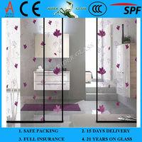 3-19mm Decorative Bathroom Doors with CCC & AS/NZS2208:1996 & EN12150-1