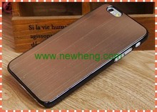 wire drawing metal hard case with black side for iphone6