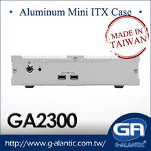 GA2300 intel atom fanless aluminum mini itx case Manufacturers