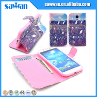 silicon thick phone case card holder wallet with high quality for Samsung Galaxy S4 I9500