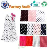 100 cotton polka dot poplin wholesale for women dress