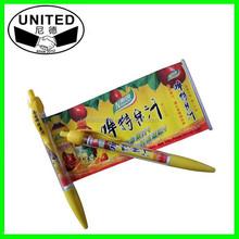 Hot!!!Cheapest promotional advertising banner pen wholesale