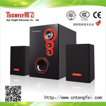 home theatre audio speaker;2.1subwoofer speaker system;fm radio computer multimedia speaker; TF-808