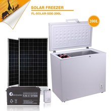 2015 guangzhou felicity 200L solar freezer complete set for store use
