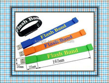 Wholesale 4GB-16GB wristband watch bracelet usb / wristband usb with OEM logo