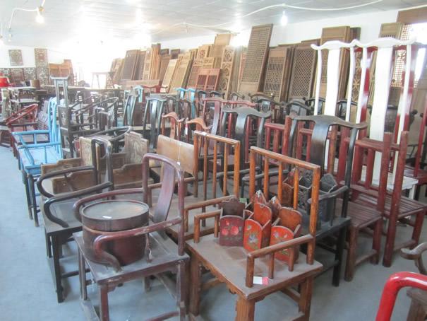 Distressed chinois peint à la main de meubles anciens chinois-Meubles en bois...
