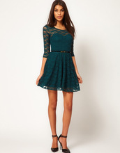 2014 summer hot European style half sleeve lace dress women