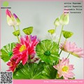 2015 Colorful solo tallo alta calidad simulación artificial de la flor de loto