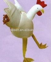 big white cock animal hat