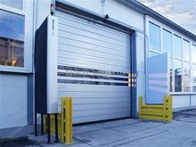 automatic revolving door transparent garage door vented steel door