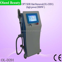 2015 newest design and highest powerful fast hairy removal/new Popular SHR OPT system spa shr ipl hair removal machine