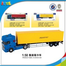 1:50 scale die cast truck toy alloy container truck toy for sale