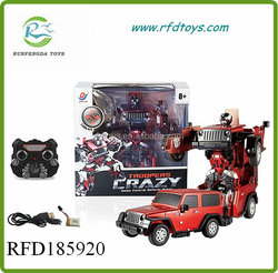 Best quality new product trans form robot model rc car