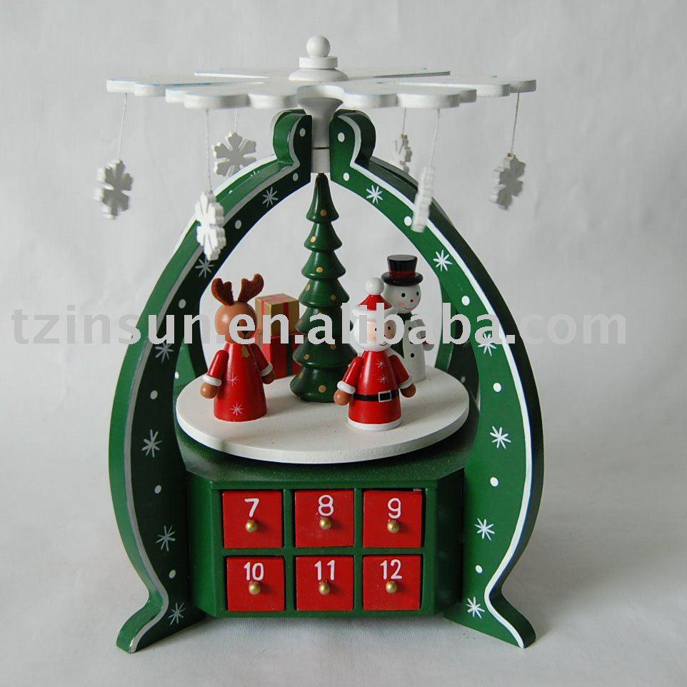 Christmas Wooden Advent Calendar Decoration