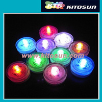 Warm Tea light Long lasting battery waterproof LED vase light candle