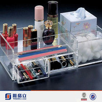 New products 2015 wholesale Acrylic cosmetics fancy planners organizers mulit-function makeup box