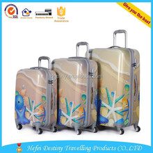 trolley luggage,trolley suitcase 20 24 28 sea printed suitcase sets