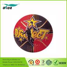 Rubber basketball size 7 with whole printing