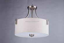 New products brushed nickel Fabric Ceiling light and Pendant light and Chandelier