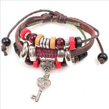 Top quality handmade fashion charm leather bracelet