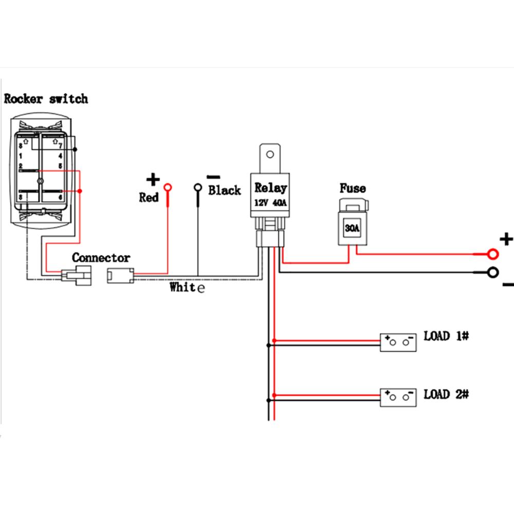 12v 40a led fog light wiring harness laser rocker switch relay fuse rh alibaba com