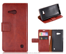 For Nokia Lumia 730 case, New Crazy horse grain + TPU back cover Wallet Leather Case for Nokia Lumia 730 case