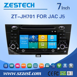 Zestech In dash car dvd for JAC J5 car gps player with am/fm canbus mp4 usb sd slot