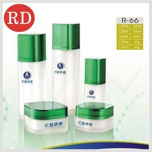 square glass cosmetic creanm and dropper bottle